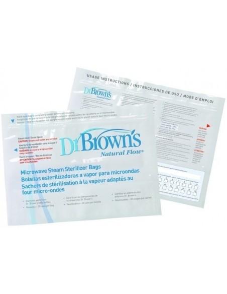 Dr Brown's torebki do sterylizacji w kuchence mikrofalowej - (5szt.)
