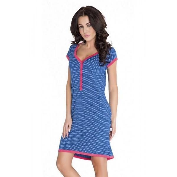 Koszula ciążowa DOBRANOCKA Hebe navy blue 5038