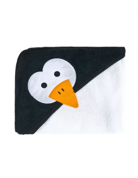 Okrycie kąpielowe Sensillo 100x100 biały pingwin