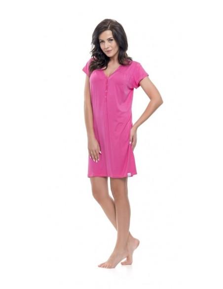 Koszula ciążowa DOBRANOCKA deep pink 9117