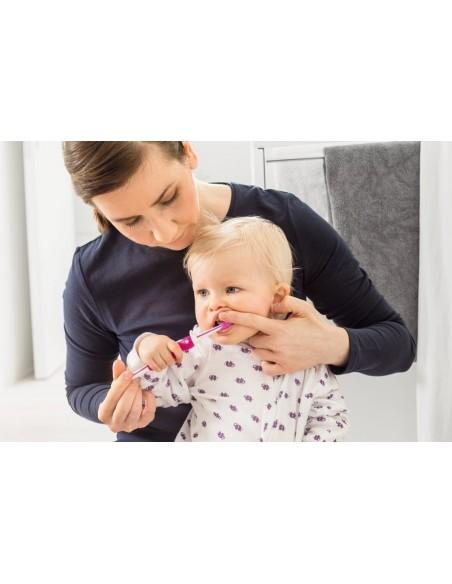 Szczoteczka dla niemowląt MAM Training Brush żółta