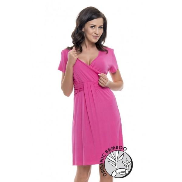 Koszula ciążowa DOBRANOCKA Deep Pink 9116
