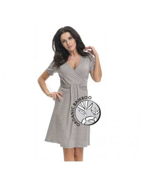 Koszula ciążowa DOBRANOCKA Dark Grey 9116 r.S