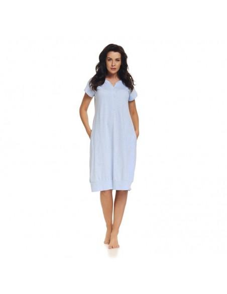 Koszula ciążowa DOBRANOCKA 9300 BLUE GREY