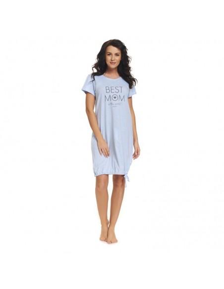 Koszula ciążowa DOBRANOCKA 9081 BLUE GREY