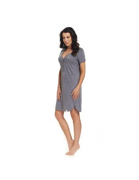 Koszula ciążowa DOBRANOCKA 9301 DARK GREY